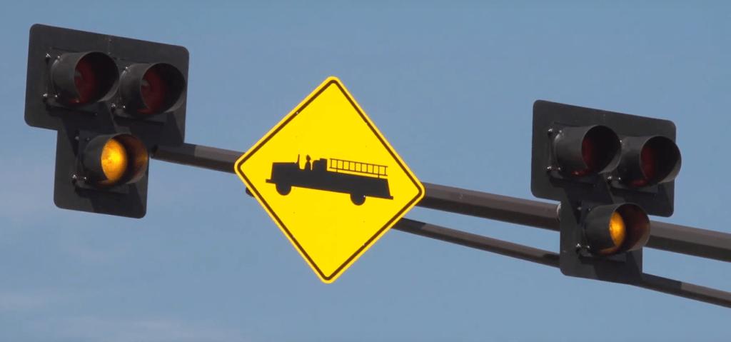 emergency vehicle hybrid beacon