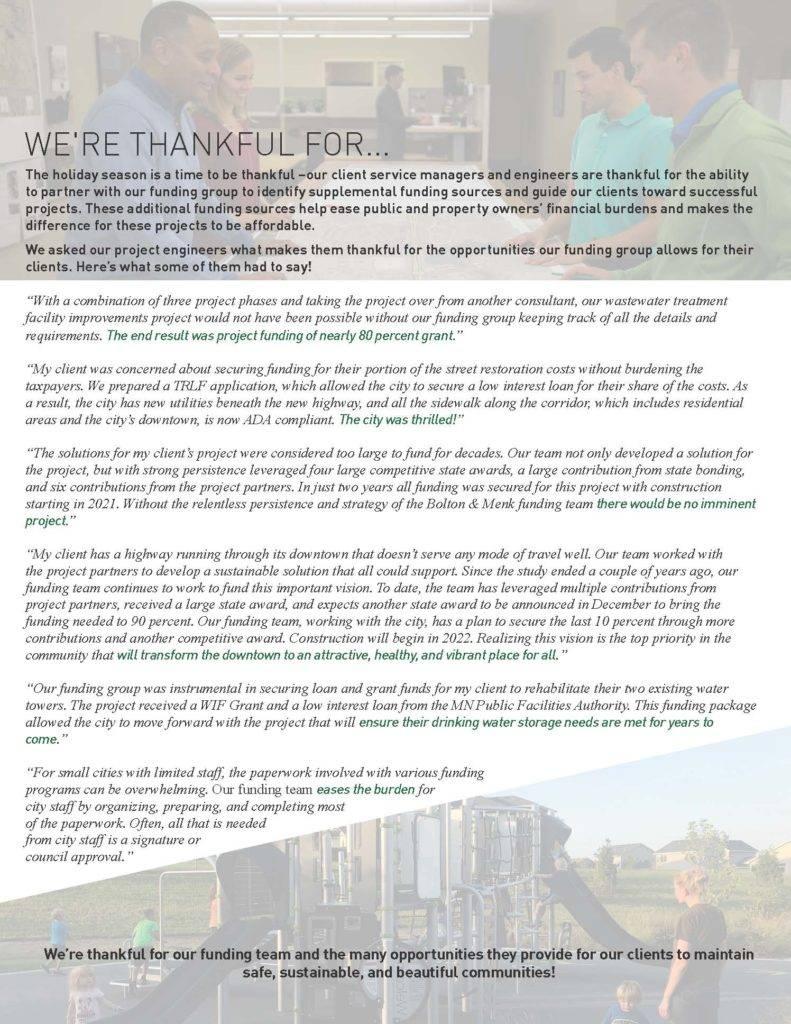 funding testimonies by Bolton & Menk employees