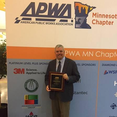 Accepting the APWA award