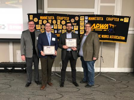 Hopkins and Bolton & Menk staff receive award
