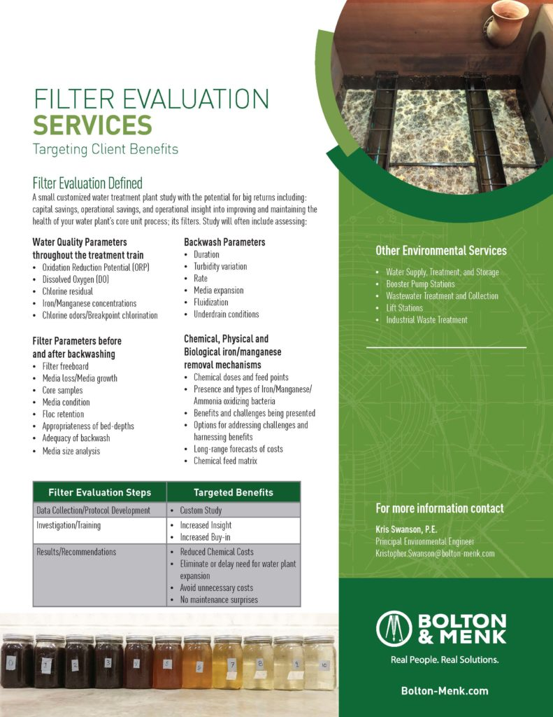 filter evaluation services