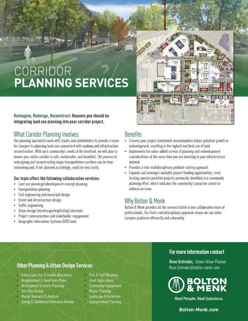 corridor planning sales tool