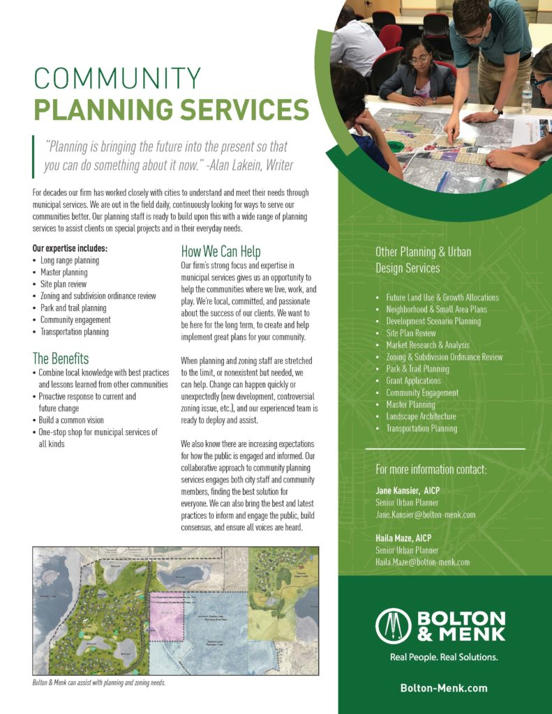 community planning services sales tool