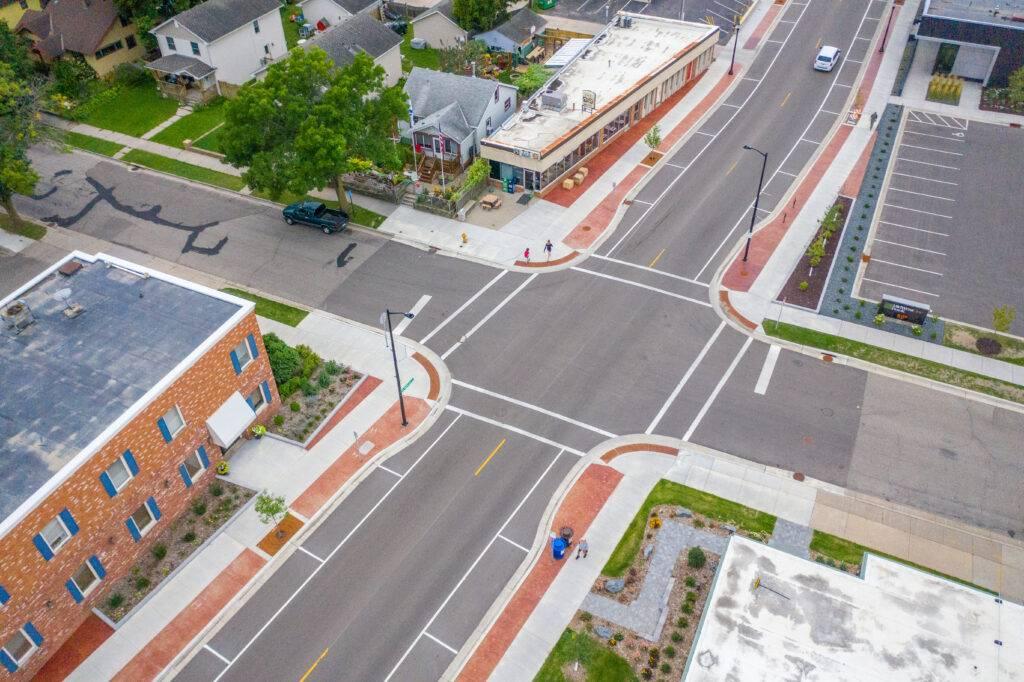 southview blvd corridor aerial view