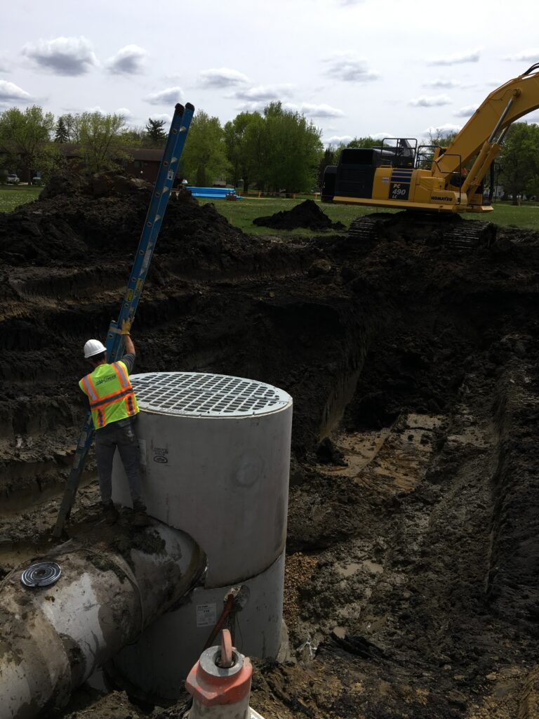 Construction on Winnebago aging storm sewer system
