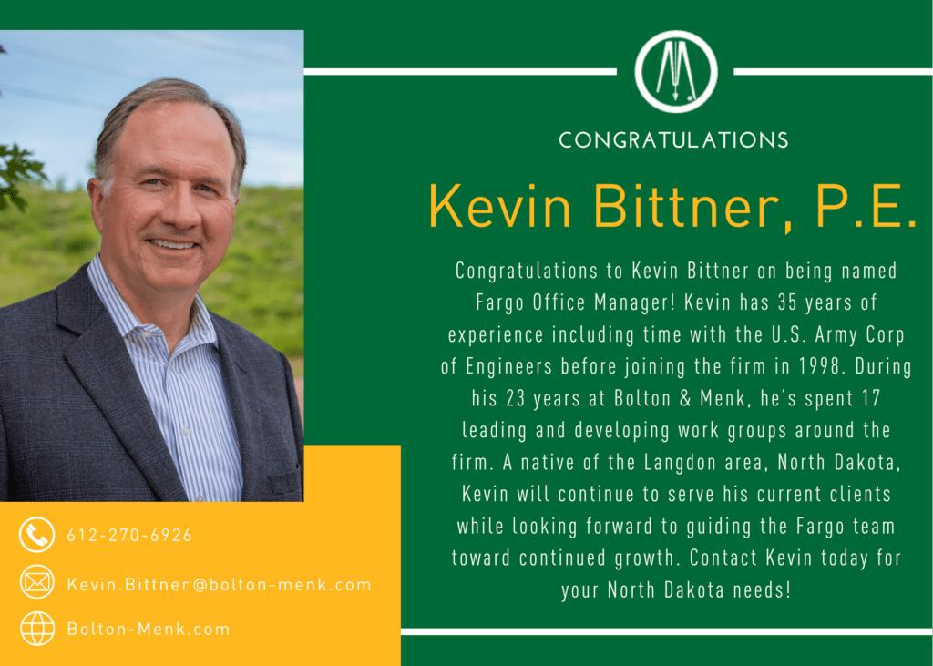 Kevin Bittner announcement
