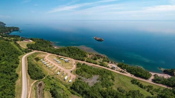 Black Beach Campground panoramic view